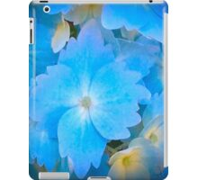 Blue And Yellow Hydrangea Flowers iPad Case/Skin