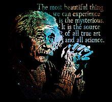 The Source of All True Art - Albert Einstein by Daogreer Earth Works