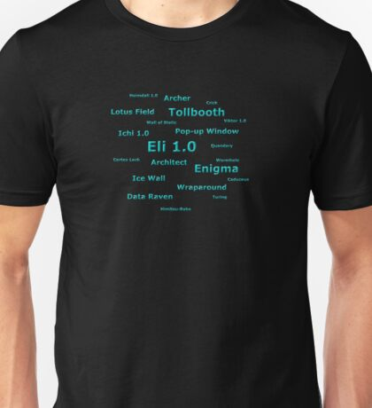 Netrunner - Corp Ice Cards Unisex T-Shirt