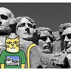 Claude Visits Mount Rushmore by Daogreer Earth Works