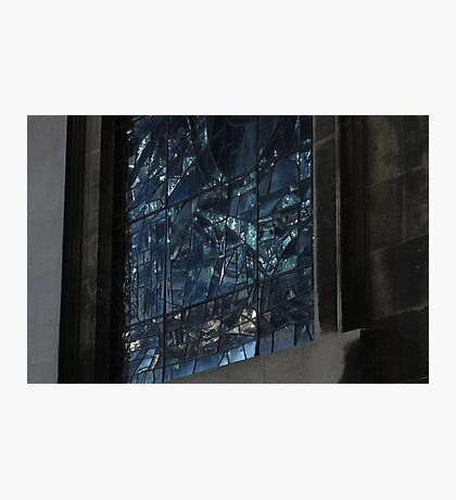 Stained glass window at night Photographic Print