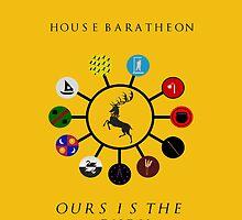 House Baratheon & vassal houses by Sadema
