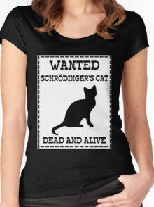 Wanted - Schrödinger's Cat Women's Fitted Scoop T-Shirt