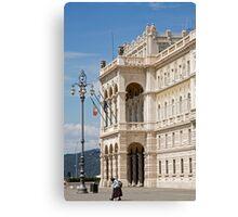 Piazza unita d'italia, Trieste Canvas Print