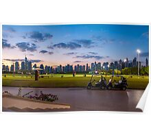 Golf Course Sunset Poster