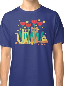 Rabble Of Butterflies In Tulip Garden Classic T-Shirt