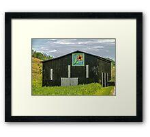 Kentucky Barn Quilt - Flower of Friendship Framed Print