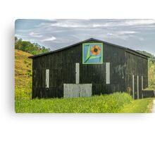 Kentucky Barn Quilt - Flower of Friendship Metal Print