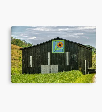 Kentucky Barn Quilt - Flower of Friendship Canvas Print