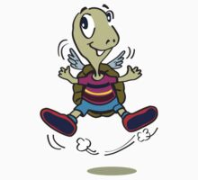 One Happy Turtle with wings Kids Clothes