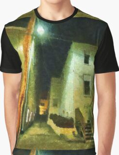Night Alleyway Graphic T-Shirt