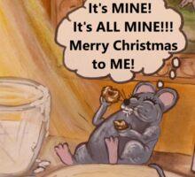 A Mouse's Excellent Christmas Sticker