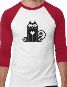 LOVE CAT Men's Baseball ¾ T-Shirt