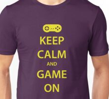 KEEP CALM and GAME ON (yellow) Unisex T-Shirt