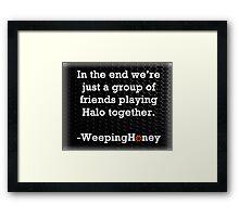 Words From Honey Framed Print