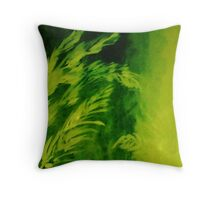 Tall grasses, watercolor Throw Pillow
