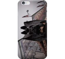 Gargoyle Bat on Funhouse iPhone Case/Skin