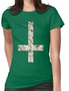 Anticross Money. Womens Fitted T-Shirt