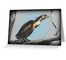 Cormorant Art  Greeting Card