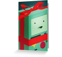 Adventure Time BMO Holiday Gift Greeting Card