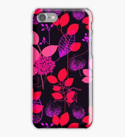 Foliage Raspberry & Musk [iPhone / iPod Case and Print] iPhone Case/Skin