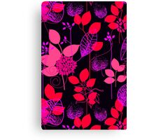 Foliage Raspberry & Musk [iPhone / iPod Case and Print] Canvas Print