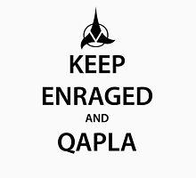 KEEP ENRAGED and QAPLA (black) Unisex T-Shirt