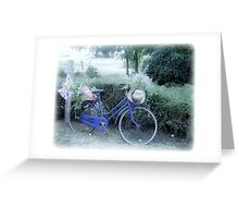 English Bike in France Greeting Card