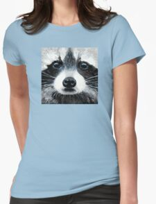 Winter Sky Eyes Womens Fitted T-Shirt