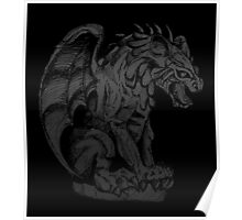Spooky Gargoyle Poster