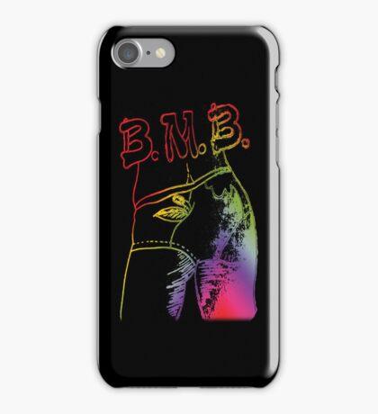Be my  Bee Otch Rainbow Black  iPhone Case/Skin