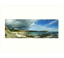 Storm Brewing over Portscatho Art Print