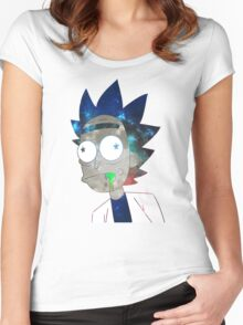 Space Rick Women's Fitted Scoop T-Shirt