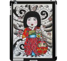 Ichimatsu ningyo, maneki neko and daruma doll  iPad Case/Skin
