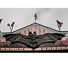 Bat Gargoyle on Funhouse at a Carnival Photographic Print