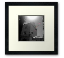 French Cafe Flags Framed Print