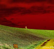 Lone Man with His Best Friend by MacroXscape