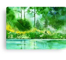 Light N GreensR Canvas Print