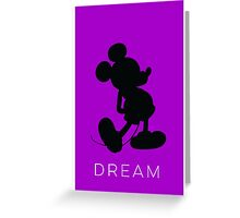 Dream- Purple (phone fit) Greeting Card