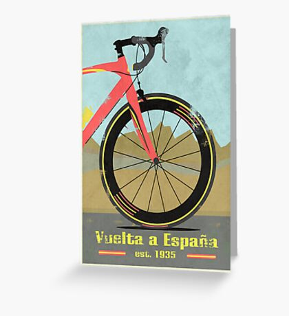 Vuelta a España Bike Greeting Card