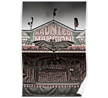 Haunted Mansion at a Carnival Poster