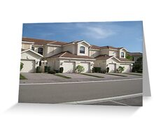 Suburbia Greeting Card
