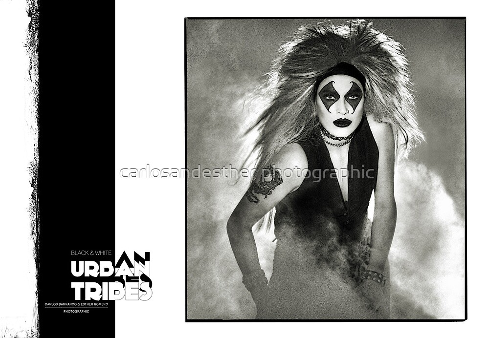 B&W Urban Tribes/Esther 1994 by carlosandesther photographic