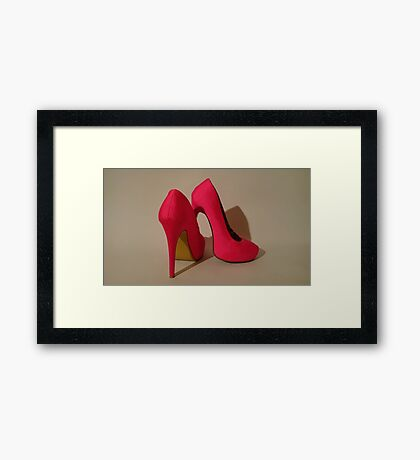 Pink pair of killer heels 3 Framed Print