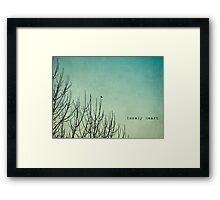 lonely heart Framed Print