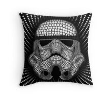 Circle Trooper Throw Pillow