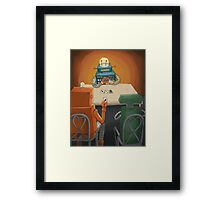 robot in trouble Framed Print