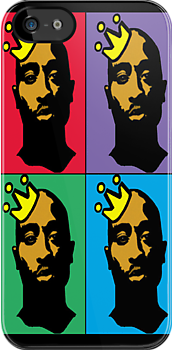 HIP-HOP ICONS: TUPAC SHAKUR (4-COLOR) by S DOT SLAUGHTER