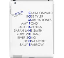 The Doctor and his Companions iPad Case/Skin
