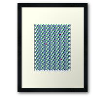 3D Geometric patterns - Colorful cube pattern Framed Print